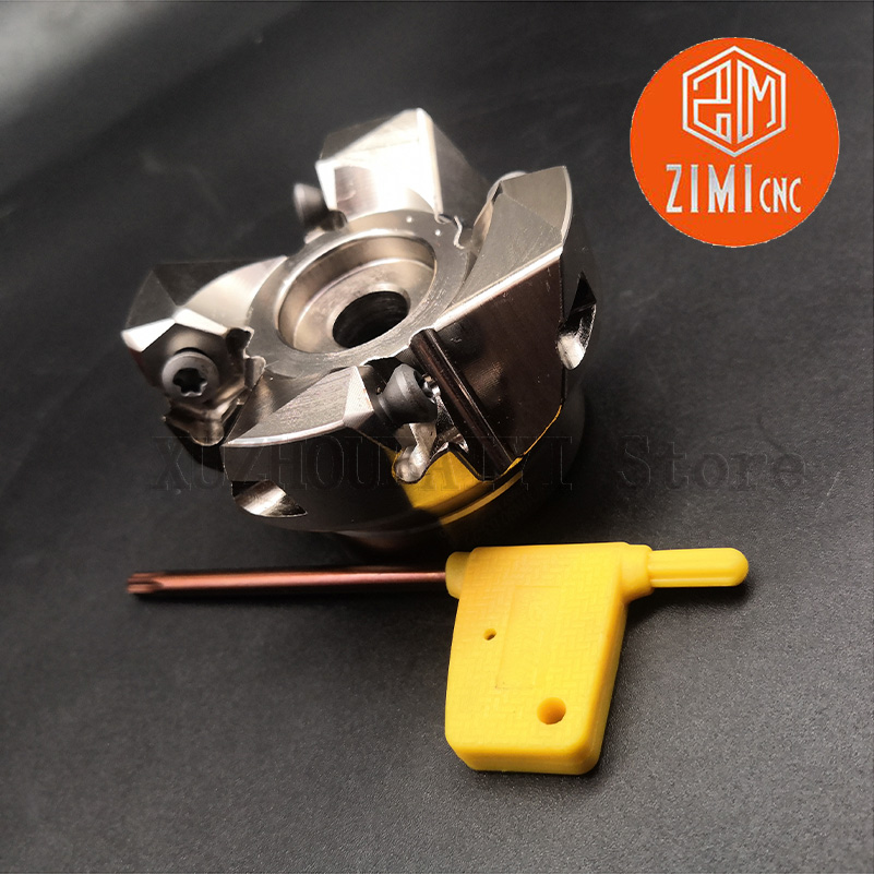 MFWN90 50-22 4-edge 90-degree Double-sided Hexagonal Heavy Cutting Face Milling Cutter Head For WNMU080608/WNMG080608EN Blade
