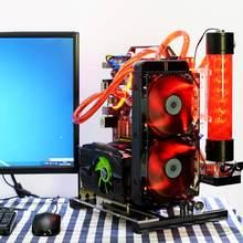 Atx/M-ATX/itx diy caso de computador aberto chassis vertical overclocking aberto quadro alumínio chassis rack diy acessórios do computador kit
