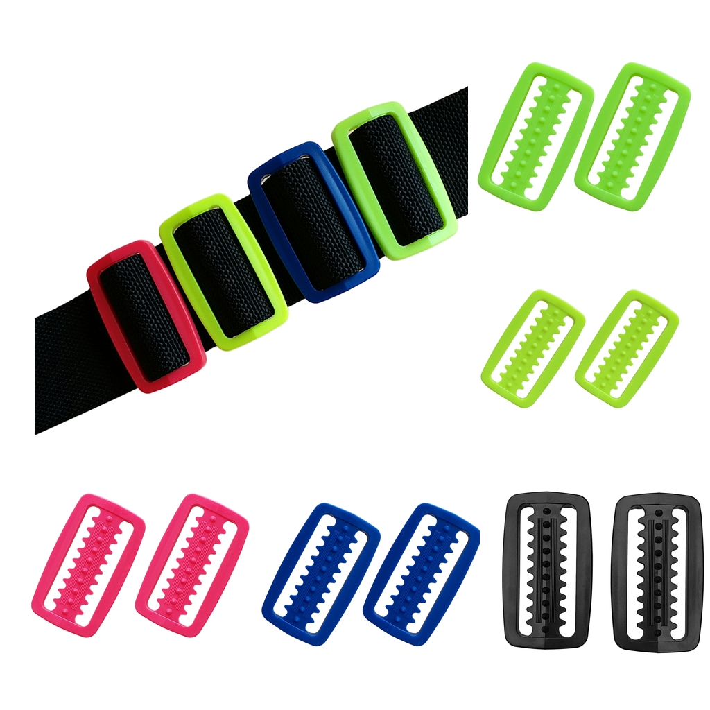 2 Pieces Scuba Diving Snorkeling Weight Belt Keeper Retainer Stopper Slider For Standard 5cm / 2 Inch Webbing Strap - 5 Colors