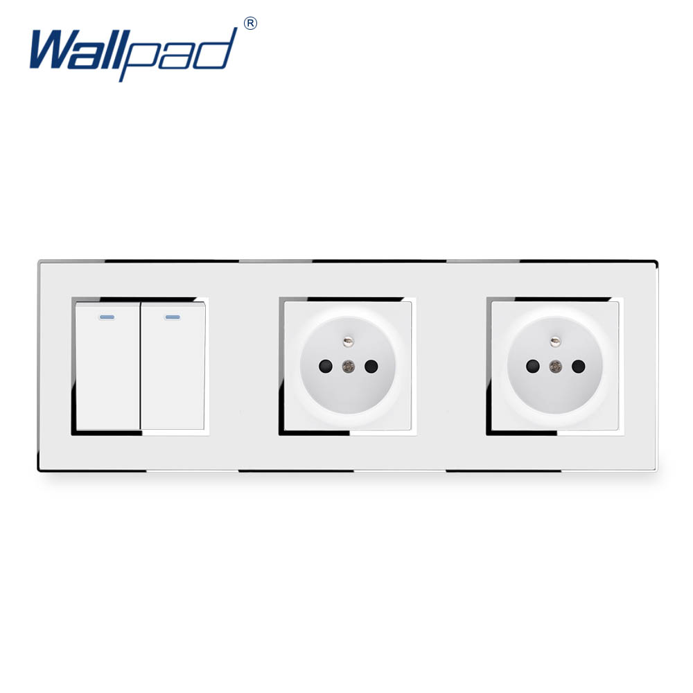 [SCHEMATICS_4PO]  2 Gang 2 Way With Double EU Socket Wallpad Luxury Wall French Power  Electric Outlet White Acrylic Panel With Silver Border|Electrical Sockets|  - AliExpress | Wiring Diagram For French Phone Socket |  | AliExpress
