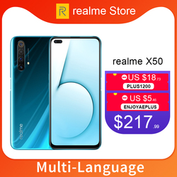 realme X50 X 50 5G 6GB 64GB 6.57'' Moblie Phone Snapdragon 765G Octa Core 64MP Quad Camera Cellphone VOOC 30W Fast Charger