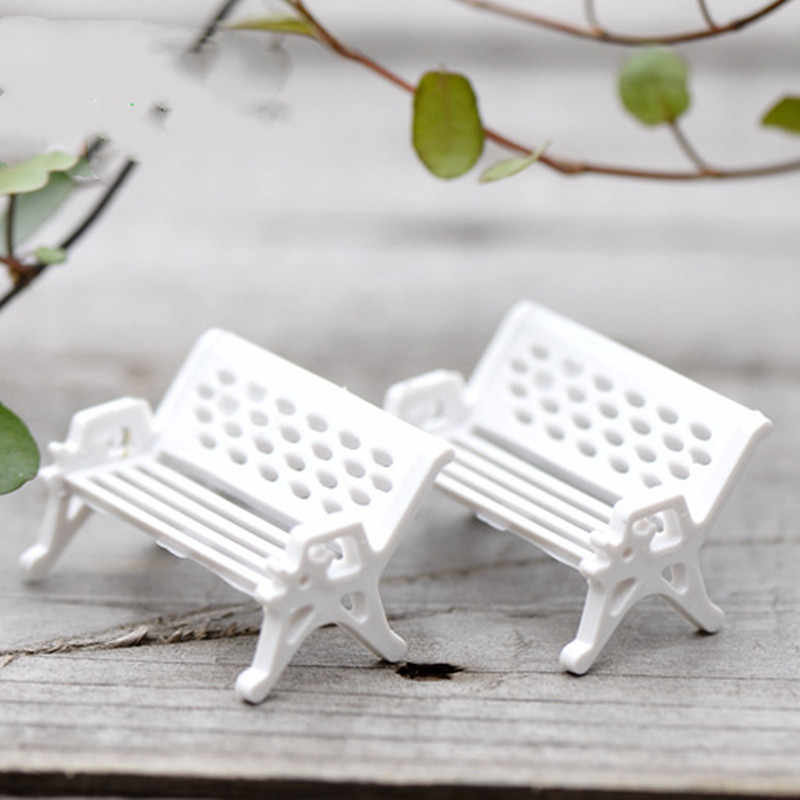 Home Decor Accessories 3 Pcs High Quality Mini Garden Ornament Miniature Park Seat Bench Craft Fairy Dollhouse Hot Sale