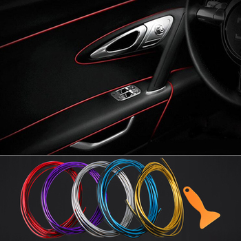 1M/3M/5M Car Seal Styling Interior Stickers Decoration Strips Mouldings Trim Dashboard Door Edge Universal for Car Accessories image