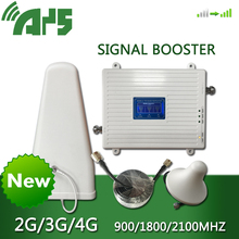 GSM 2G 3G 4G Handy Booster Tri Band Mobile Signal Verstärker LTE Cellular Repeater GSM DCS WCDMA 900 1800 2100 Set