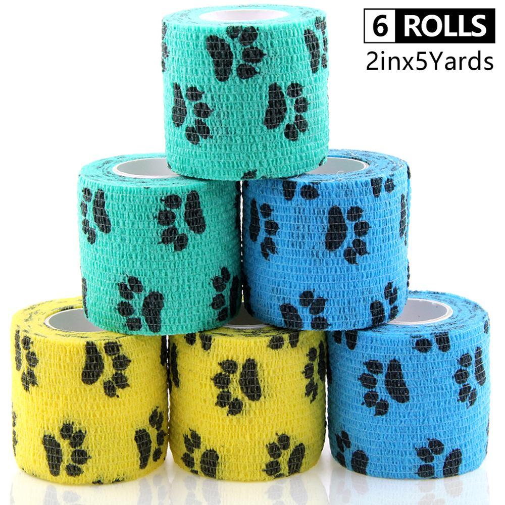 Elastische Bandage Cohesive Bandagen Tierarzt Wrap Self Adhesive Verband Selbst Haftende Wrap Nicht-Woven Hunde Pet Tiere & Ankle verstauchungen