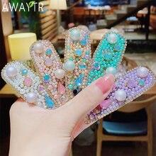 Женская заколка для волос awaytr в Корейском стиле пряжка с