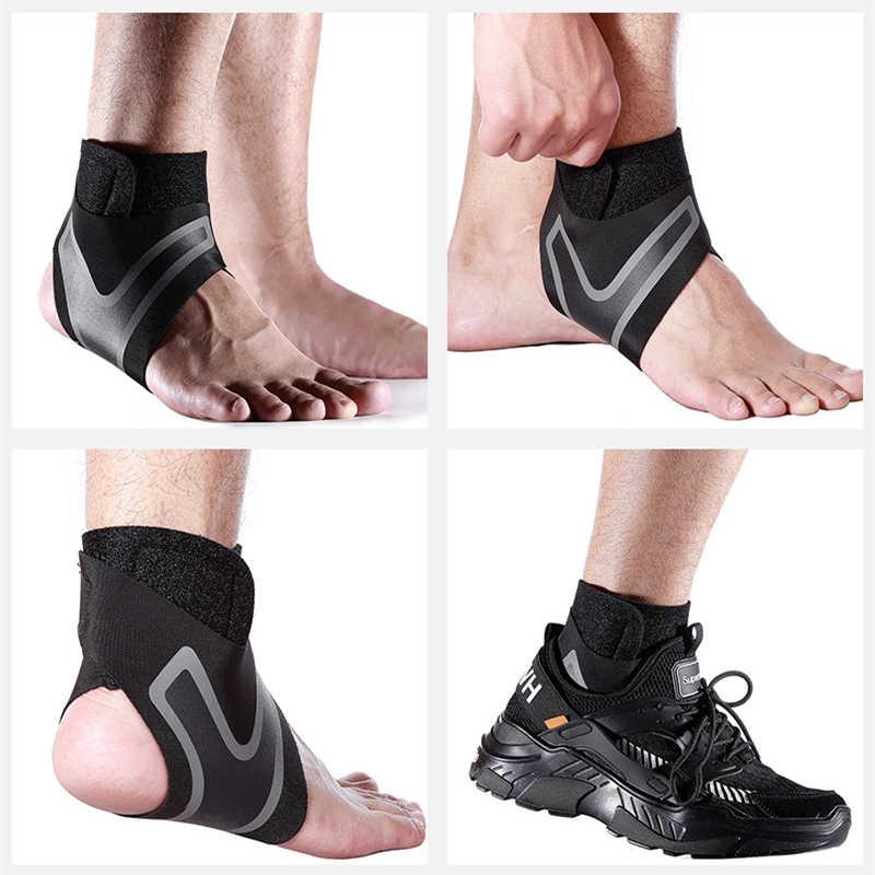 NUOVO 1PC di Supporto Alla Caviglia Regolabile Pad Pressione Manicotto Anti-Spinning Elastico Traspirante Guard Fitness Sicurezza e prevenzione nello sport Prevenzione