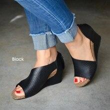 Women Casual Side Open Cover Heel Retro Sandals
