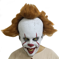 Deluxe Pennywise Clown IT Chapter 2 Cosplay Mask Joker Halloween Fancy Party Prop