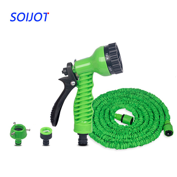 25FT-250FT Car Wash Spray Garden Hose Expandable Magic Flexible Water Hose EU Hose Plastic Hoses Pipe With Spray Gun To Watering 1