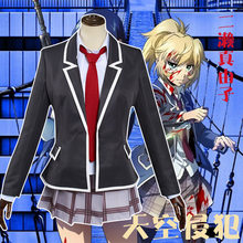 Anime High Rise Invasion Mayuko Nise Cosplay Costume Tenkuu Shinpan JK School Uniform Women Girls Carnival Party Sets C93M143