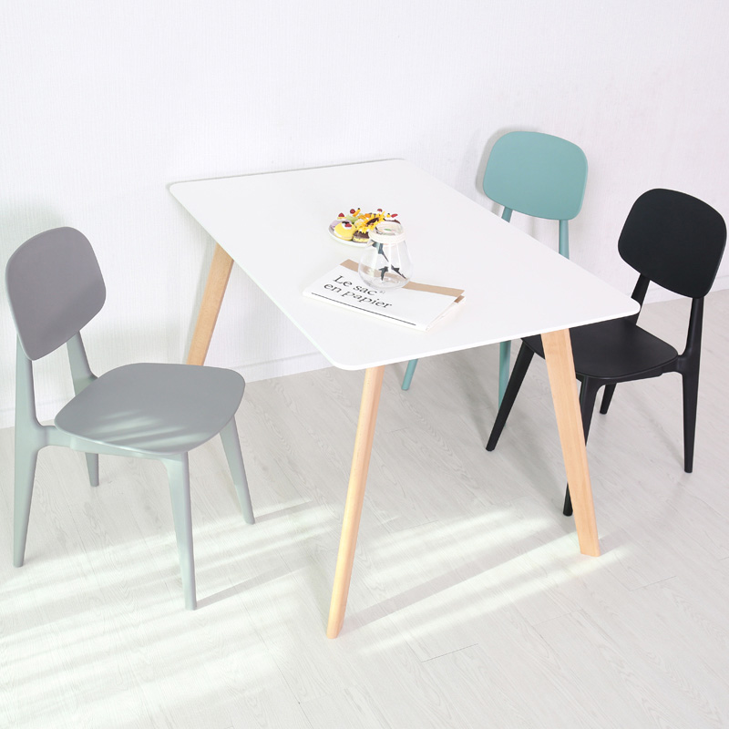 Nordic Creative Plastic Chair Modern Restaurant Dinning Room Chair Furniture Living Room Bedroom Kitchen Plastic Dining Chair