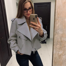 Popular Windproof Trendy Women's Spring Faux Leather Jackets 2021 Ladies Casual Loose Soft Short Basic Jackets And Coats