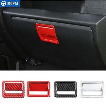 MOPAI Interior Accessories for Suzuki Jimny JB74 Car Copilot Storage Box Handle Decoration Stickers 2019+