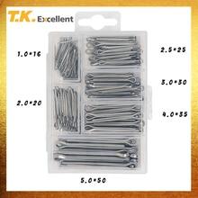 T.K.EXCELLENT 분할 핀 코터 핀 세트 304 스테인레스 스틸 5.0*50 4.0*35 3.0*30 2.0*20 2.5*25 1.0*16 230PCS