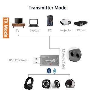 Image 2 - DISOUR 5.0 USB الصوت جهاز إرسال بلوتوث استقبال للتلفزيون سيارة 3.5 مللي متر AUX ستيريو Musci 2 في 1 لاسلكية محول Aptx USB دونغل