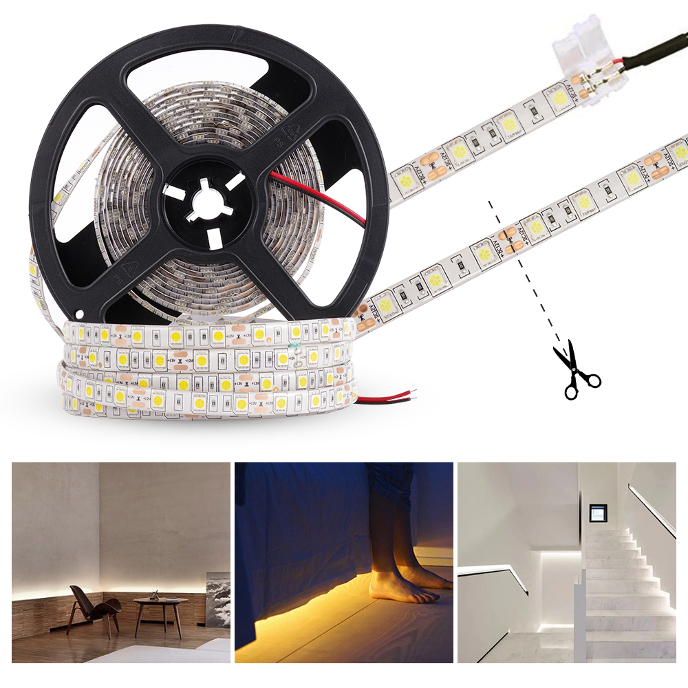 lowest price SKYRIN led strip light RGB 2835 SMD 5050 Flexible Ribbon fita waterproof 5M 10M 15MTape Diode DC 12V  Remote IR Control  Adapter