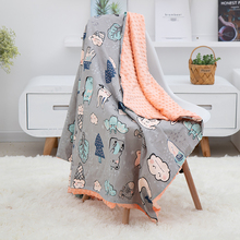 Soft Breathable New Cotton Cartoon Baby Blanket Beanie Kids Quilt Peas Blanket For Pram Baby Carriage Stroller Covers