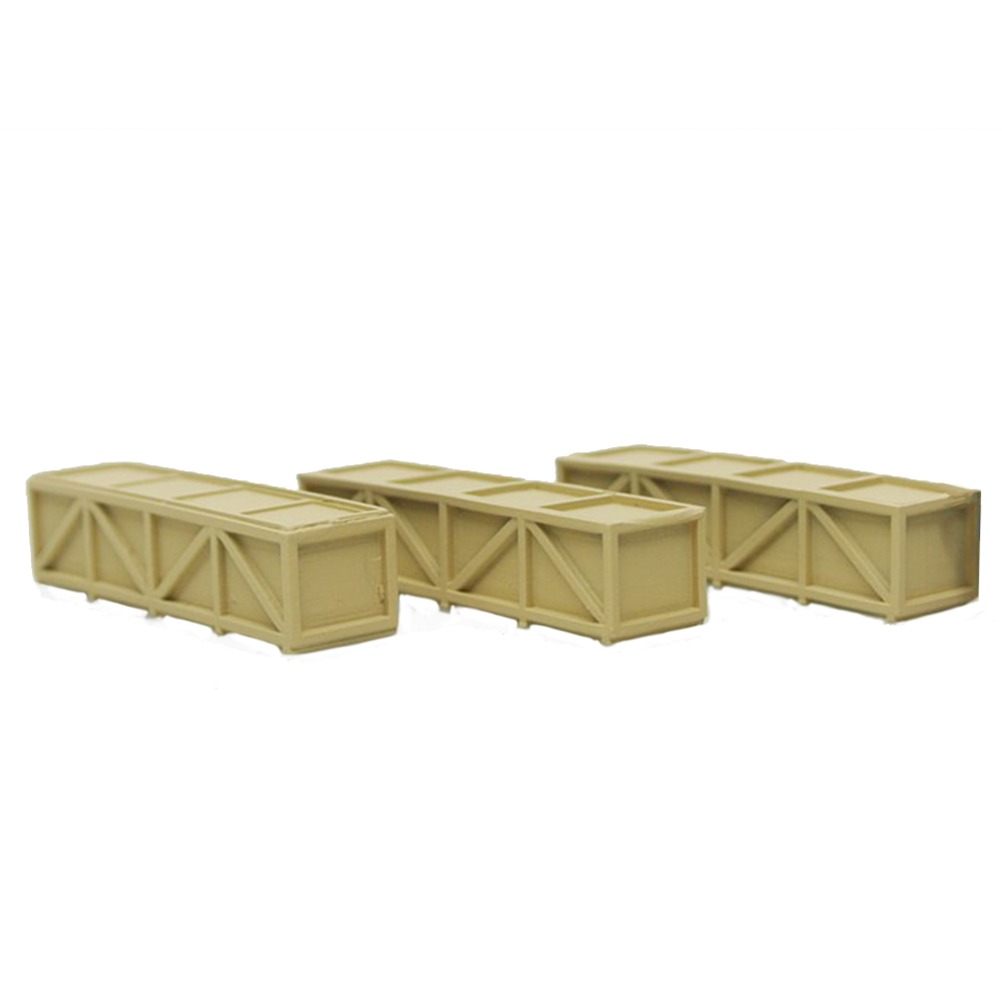 3Pcs 4cm 1:87 HO Scale Train Model Construction Scene Sand Table Cargo Box - Rectangular