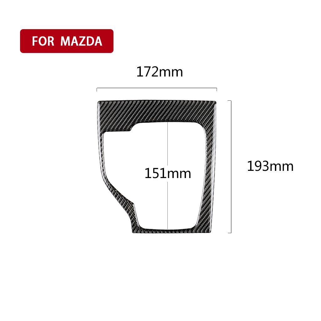 Details about  /Interior Center Control Decoration Strip Cover Trim Fit for Mazda 3 Axela 14-17
