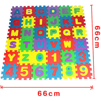 36Pcs/set EVA Foam Number Alphabet Puzzle Play Mat Baby Rugs Toys Play Floor Carpet Interlocking Soft Pad Children Games Toy children s soft eva puzzle mat baby play carpet puzzle animal letter cartoon eva foam play mat pad floor for kids games rugs sgs