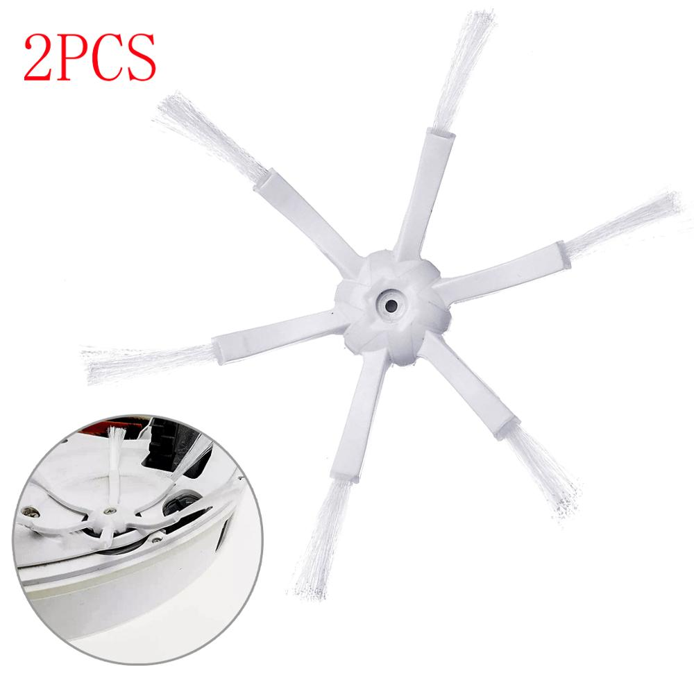 2Pcs Six jaw Side Brushes Vacuum Cleaner Brushes Accessories Side Brush For Xiaomi Roborock S50 S51 S55 Robot|Hand Push Sweepers| |  - title=