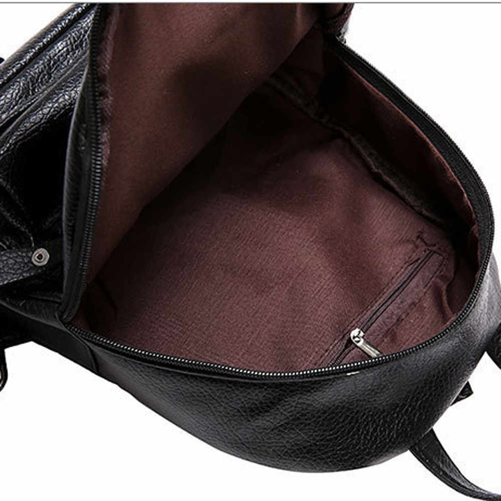 25 # Zaino in pelle da Donna Multifunzione Bookbags Spalla Borse da Scuola per le Ragazze Adolescenti Sveglio di Modo Dello Zaino Della Ragazza Zaino