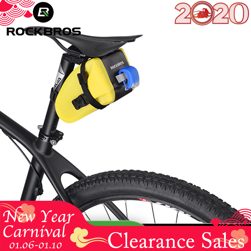 ROCKBROS Bike Saddle Bag Bicycle Rear Top Tube Bag MTB Cycling Seat Tail Reflective Pannier Backpack Waterproof Bike Accessories