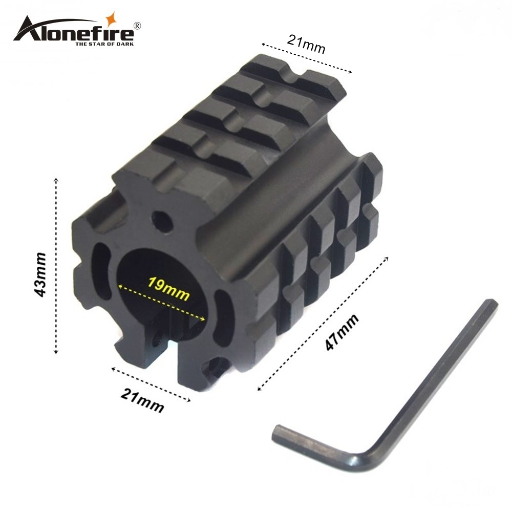 ALONEFIRE M61 Universal 3 Picatinny Weaver Rail 19mm Ring Barrel Hunting Scope Mount 21mm Fit For Rifle Scope Gun 1pc