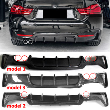 Carbon Fiber Rear Lip Spoiler Diffuser For BMW 4 Series F32 Coupe F33 Convertible F36 Gran Coupe 2013-2019 Bumper Modification for bmw 4 series f32 f33 f36 420i 428i 435i 2014 up replacement carbon fiber m4 look rear view mirror cover caps