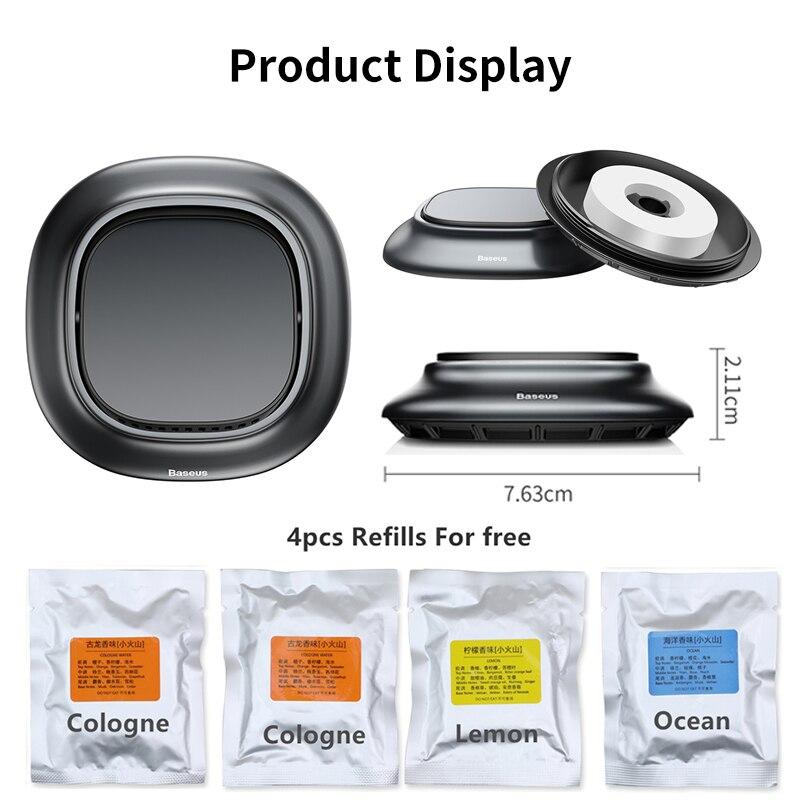 Image 5 - Baseus Alloy Car Air Freshener Perfume Fragrance Auto Aroma Diffuser Aromatherapy Solid Air Outlet Dashboard Perfume HolderAir Freshener   -