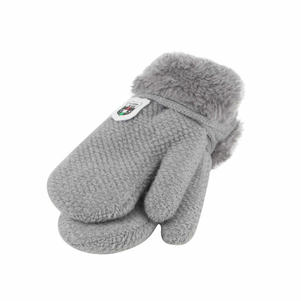 בחוץ חם כפפות חורף תינוק בני בנות סרוג כפפות חם חצי אצבע בחוץ חם כפפות חורף כפפות ילדים Rekawiczki