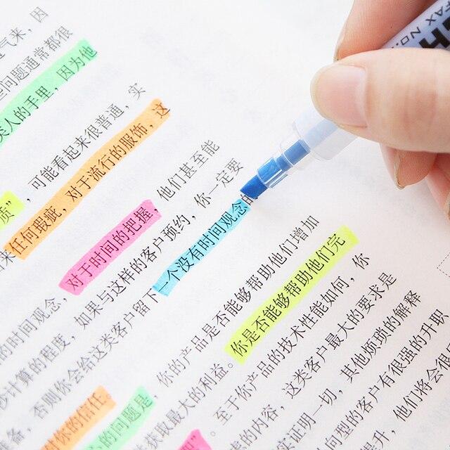 Фото 6 шт японский конфеты цветные твин советы маркер ручка прочный