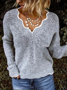 Women's Sweater Knitted Pullover Loose Plus-Size Winter Fashion High-Quality And