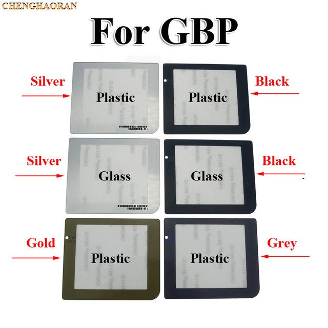 ChengHaoRan 1pcs Replacement Part With / Without Light Lamp Hole Screen Lens For Gameboy Pocket GBP Screen Lens Protector