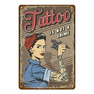 Классический декор для тату магазина, сексуальная девушка, Мэрилин Монро, металлический знак, оловянный постер, настенная наклейка, украшение для комнаты YJ022