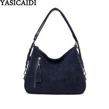YASICAIDI Suede Leather Womens Handbag PU Tassel Zipper Female Shoulder Bag Casual Tote Ladies Hand Bags sac bandouliere femme