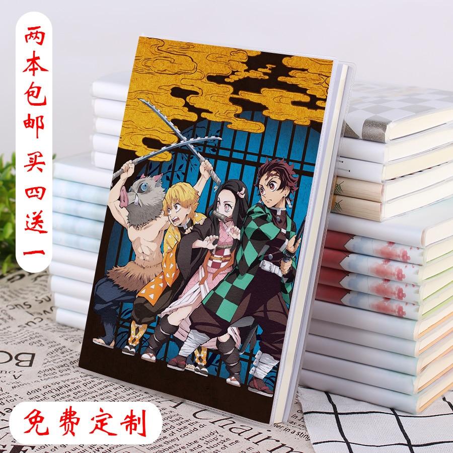 Japanese Hot Anime Props Kamado Tanjirou Kimetsu No Yaiba Demon Slayer Students Diary Note Book