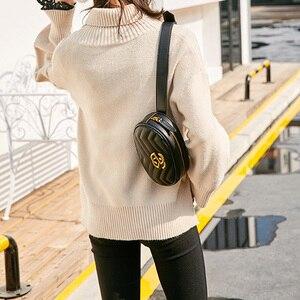 Image 3 - Alta qualidade das mulheres fanny pacote de couro do plutônio saco da cintura feminina banana cinto bolsa ombro crossbody sacos peito designer luxo bolsa