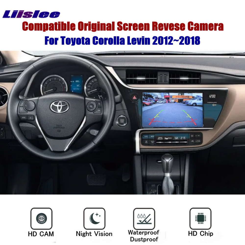 Reverse Rear View Camera For Toyota Corolla Levin 2012~2018 Connect e Original Monitor Screen RCA Adapter Back Up Parking Camera 屏幕