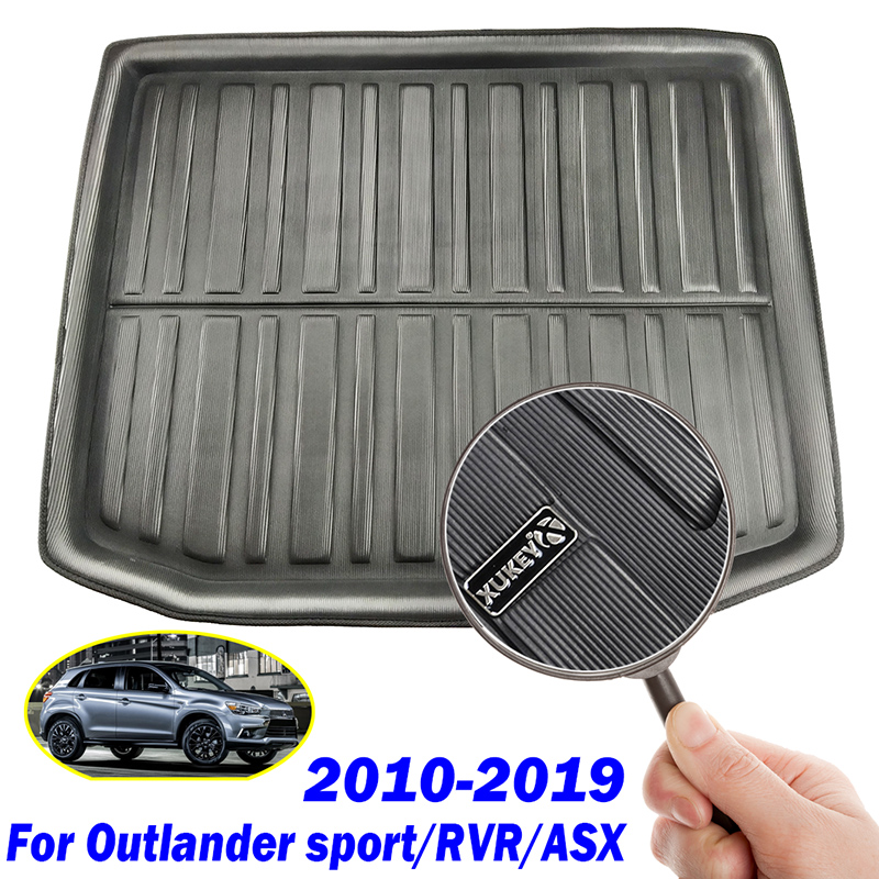 Image 3 - For Mitsubishi Outlander Sport RVR ASX 2010   2019 Boot Cargo Liner Tray Trunk Mat Luggage Floor Carpet 2011 2012 2013 2014 2015