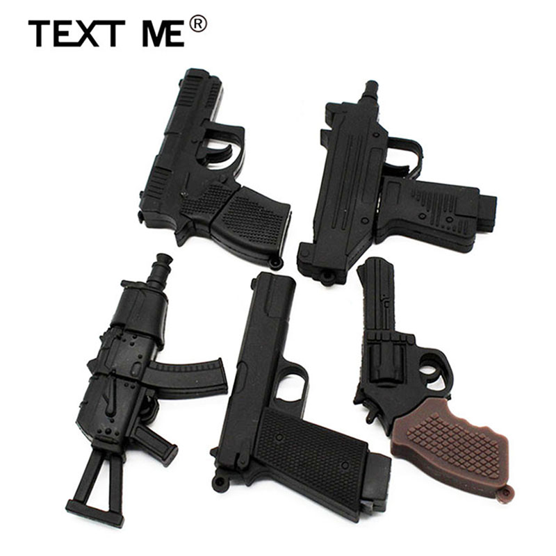 TEXT ME Cartoon  64GB  Toy Pistol  Gun USB Flash Drive 4GB 8GB 16GB 32GB Pendrive USB 2.0 Usb Stick