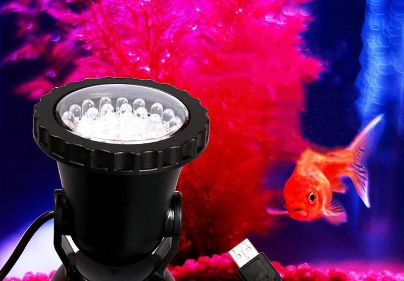 Aquarium Fish Tank Pond 6LED Warm White SpotLight Fountain Underwater Light
