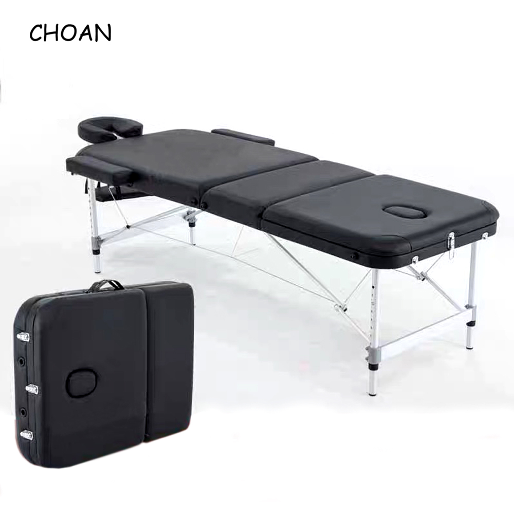 Adjustable Folding Massage Table With Bag Made Of PVC leather And Aluminum Alloy Leg 7