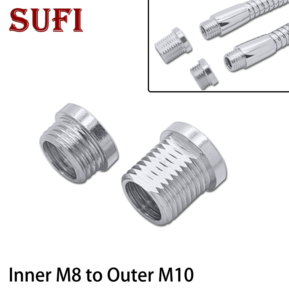 2 шт. внутренний M8 на внешний M10 соединительный шланг Гибкая ножка соединительный шланг может сделать внешние зубы M8 стать наружными зубами ...
