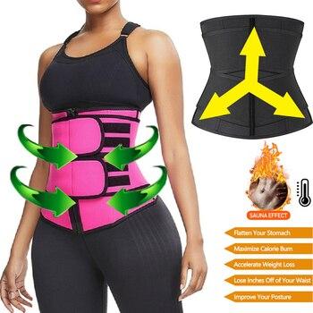 Корректирующее белье для талии, неопреновый пояс-сауна для женщин, корректор веса, корректор фигуры, ремешок для контроля живота, пояс для п...