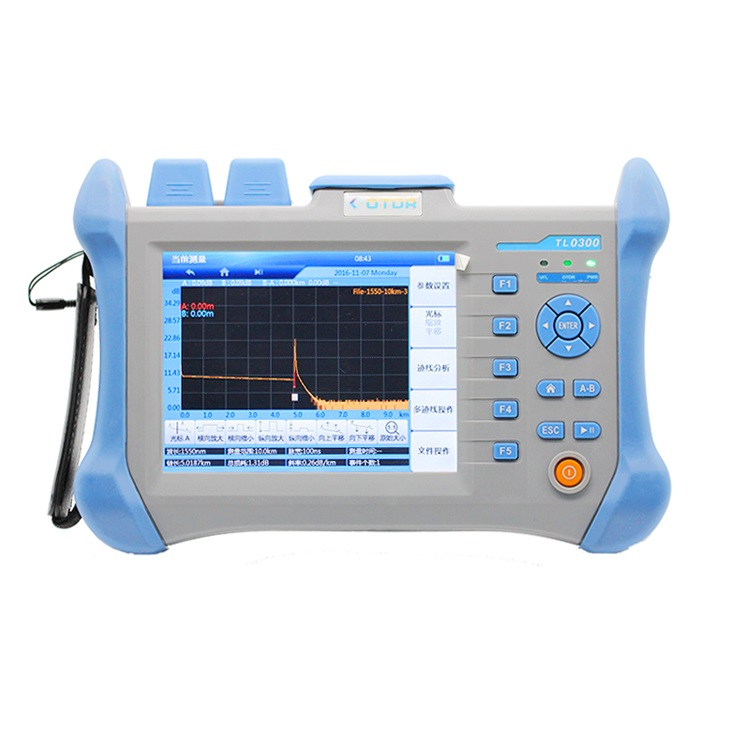 OTDR Fiber Optic Tester 1310/1550nm 120km With English Espanol 30/28dB,with Visual Fault Locator