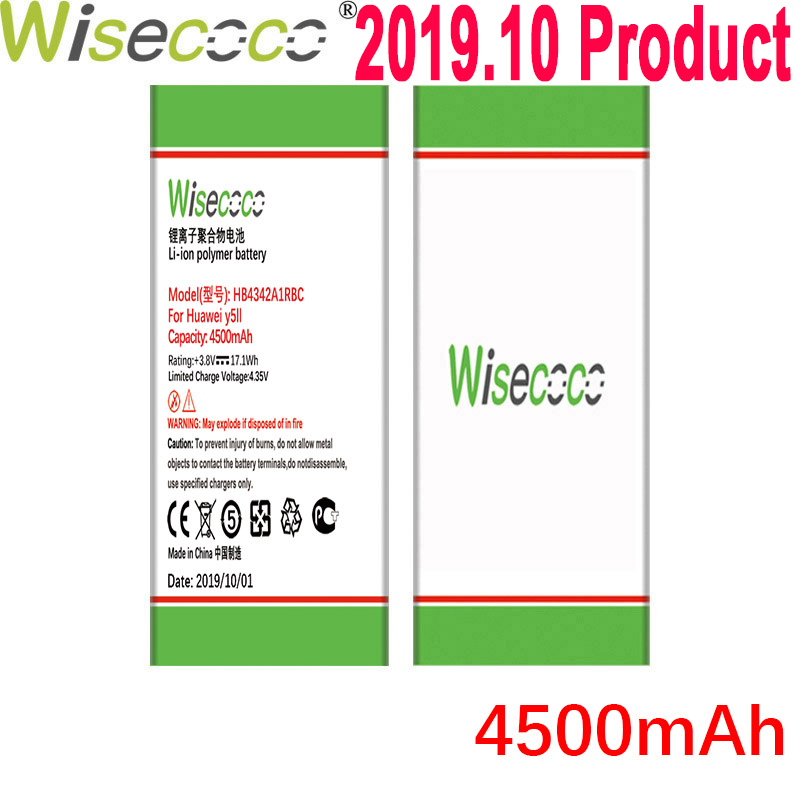 Wisecoco 4500mAh HB4342A1RBC Batterie Für Huawei y5II Y5 II 2 Ascend 5 + Y6 honor 4A SCL-TL00 Für honor 5A LYO-L21 Handy