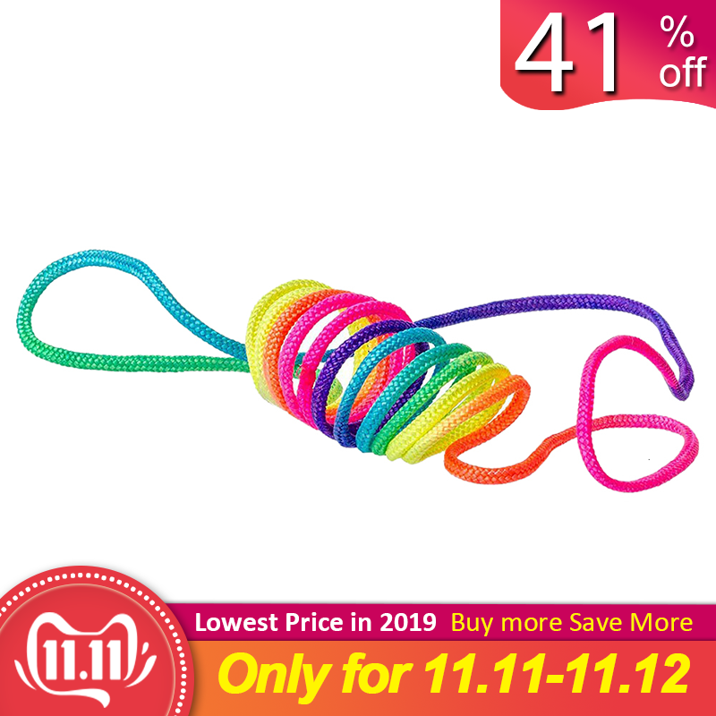 The Age Old Game Of The Finger Fun Twist String Rainbow Coloured Rope Chain With Children Macrame Cord Ztringz Rainbow