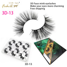 Friholl.m Lashes 6 Pairs Faux Mink 3d Eyelashes 8-25mm 5d Synthetic Silk False Eyelashes Custom Package Private Label(China)
